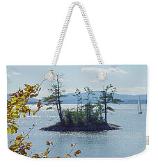 Fall Sailing Weekender Tote Bag
