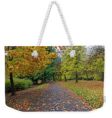 Fall Season At Laurelhurst Park In Portland Oregon Weekender Tote Bag