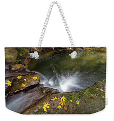Fall Season At Rock Creek Weekender Tote Bag by Jit Lim
