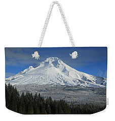 Fall Snow On Mount Hood Weekender Tote Bag