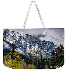 Weekender Tote Bag featuring the photograph Fall Storm In Wasatch Mountains - Utah by Gary Whitton