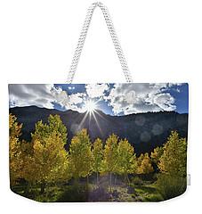 Fall Sun Setting Over Mt. Charleston Weekender Tote Bag