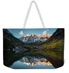 Fall Sunrise At Maroon Bells Weekender Tote Bag