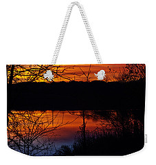 Fall Sunset Weekender Tote Bag