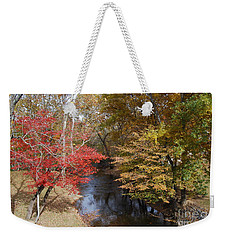 Weekender Tote Bag featuring the photograph Fall Transition by Eric Liller