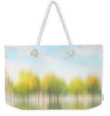 Fall Trees On Flooded Lake Weekender Tote Bag