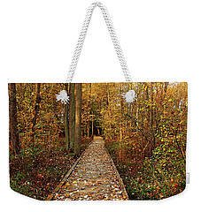 Fall Walk Weekender Tote Bag