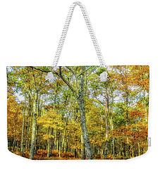 Fall Yellow Weekender Tote Bag