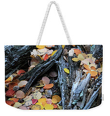 Weekender Tote Bag featuring the photograph Fallen by David Chandler