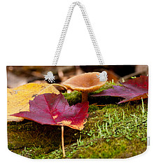 Fallen Leaves And Mushrooms Weekender Tote Bag