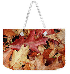 Weekender Tote Bag featuring the photograph Fallen by Peggy Hughes