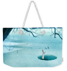 Fallen Through The Ice Weekender Tote Bag