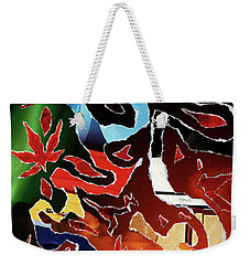 Falling Autumn Weekender Tote Bag