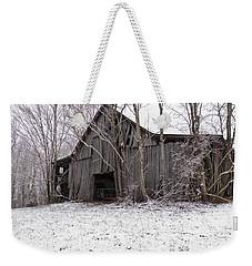 Falling Barn Weekender Tote Bag