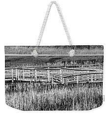 Weekender Tote Bag featuring the photograph Falling But Standing by Steven Santamour