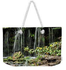 Falling Falls In The Garden Weekender Tote Bag by Iris Greenwell