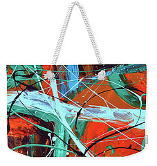 Falling Into Autumn Weekender Tote Bag by Donna Blackhall