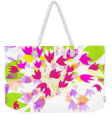 Weekender Tote Bag featuring the digital art Falling Leaves by Barbara Moignard