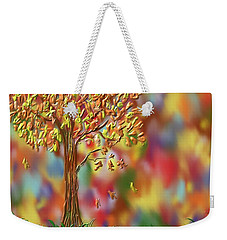 Weekender Tote Bag featuring the painting Falling Leaves by Kevin Caudill