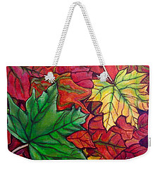 Falling Leaves I Painting Weekender Tote Bag