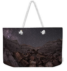 Weekender Tote Bag featuring the photograph Falling by Melany Sarafis