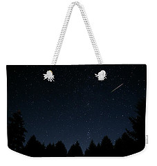 Weekender Tote Bag featuring the photograph Falling Star by Katie Wing Vigil