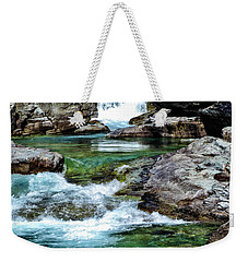Falls Above Lake Mc Donald Weekender Tote Bag