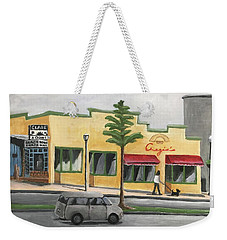 Weekender Tote Bag featuring the painting Falls Church by Victoria Lakes