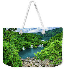 Falls From Above - Plitvice Lakes National Park, Croatia Weekender Tote Bag