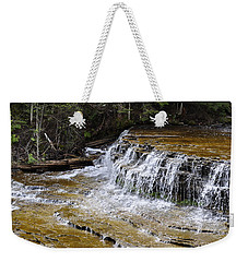 Falls Of The Au Train Weekender Tote Bag