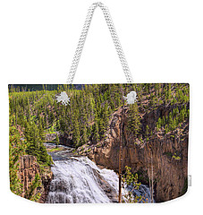 Weekender Tote Bag featuring the photograph Falls Of The Gibbon by John M Bailey