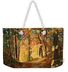 Fall's Radiance In Quebec Weekender Tote Bag
