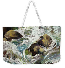Weekender Tote Bag featuring the painting Falls by Rae Andrews