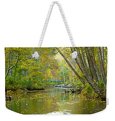 Falls Road Bridge Over The Gunpowder Falls Weekender Tote Bag by Donald C Morgan