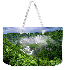 Falls Through The Fog - Plitvice Lakes National Park Croatia Weekender Tote Bag