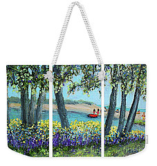 Falmouth Beach Triptych Weekender Tote Bag by Rita Brown