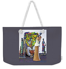 Weekender Tote Bag featuring the photograph Families Visiting African Art Museum by Elf Evans