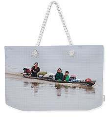 Family Boat On The Amazon Weekender Tote Bag