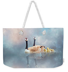 Weekender Tote Bag featuring the digital art Family Cruise by Nicole Wilde