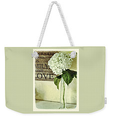 Family, Home, Love Weekender Tote Bag