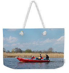 Family In Small Boat Weekender Tote Bag