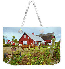 Family On The Farm Weekender Tote Bag
