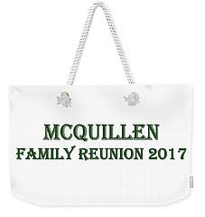 Family Reunion 2017 Weekender Tote Bag