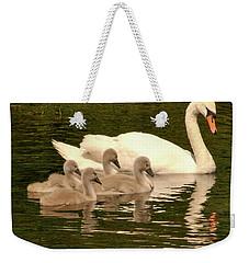 Family Swan  Weekender Tote Bag