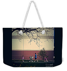 Family Walk To The Park Weekender Tote Bag