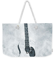 Famous Guitarists Typography Cool Weekender Tote Bag by Dan Sproul