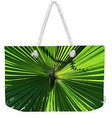 Fan Palm View Weekender Tote Bag by James Gay