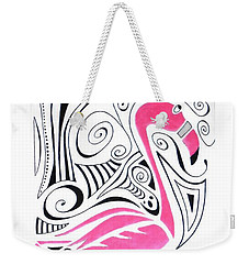 Fanciful Flamingo Weekender Tote Bag