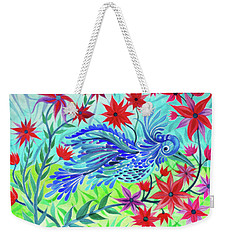 Fancy Fowl In The Flowers Weekender Tote Bag