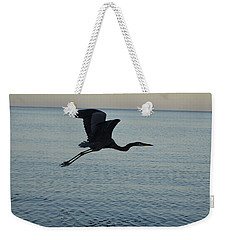 Fantastic Flying Great Blue Heron Weekender Tote Bag by DejaVu Designs